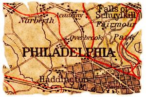 old map of Philadelphia, Pennsylvania